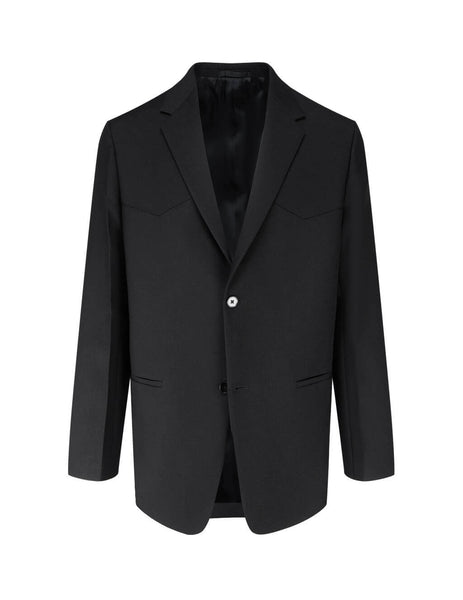 Men's Jil Sander Sharp Serge Jacket in Black. JSMR135101-MR201000001