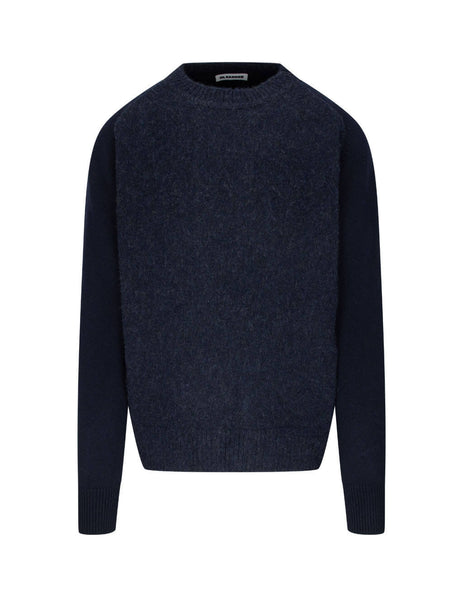 Jil Sander Men's Giulio Fashion Dark Blue Two-Tone Wool Jumper JSMR751005-MRY20068 403