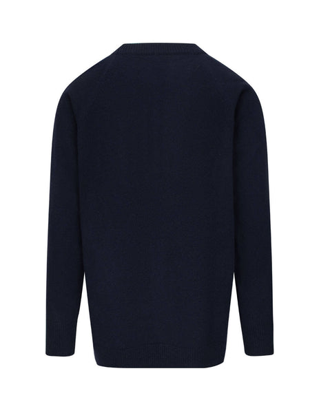 Jil Sander Men's Giulio Fashion Dark Blue Wool Crewneck Jumper JSMR751001-MRY20028 402