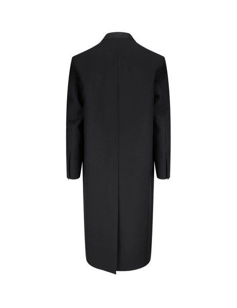 Jil Sander Men's Giulio Fashion Black Sharp Serge Coat JSMR105201-MR201000 001