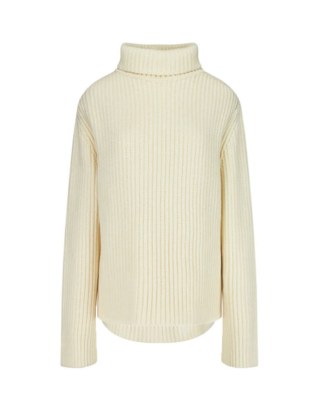 JOSEPH Women's Giulio Fashion Ecru High Neck Jumper JF0033380040