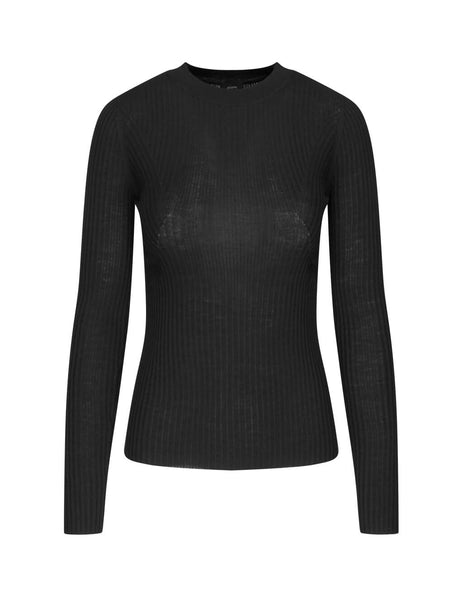 JOSEPH Women's Giulio Fashion Black Ribbed Knit JF0033210010