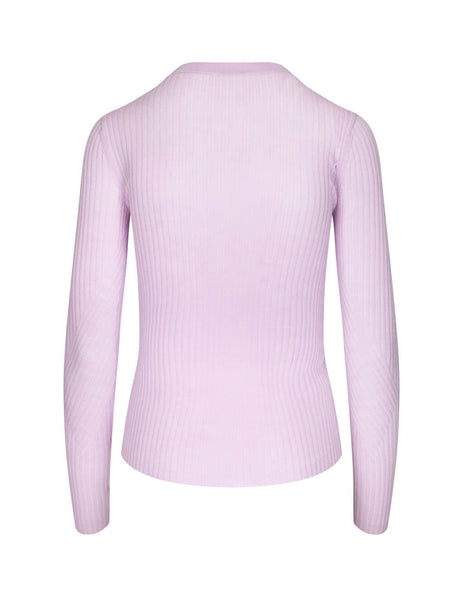JOSEPH Women's Giulio Fashion Women's Lavender Ribbed Knit JF0033210828