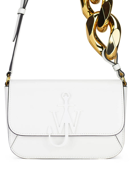 JW Anderson Women's White Chain Midi Anchor Bag HB0285 LA0020 001