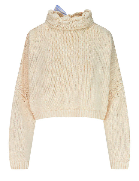 JW Anderson Women's Cropped Pillow Jumper KT0017 YN0128 002