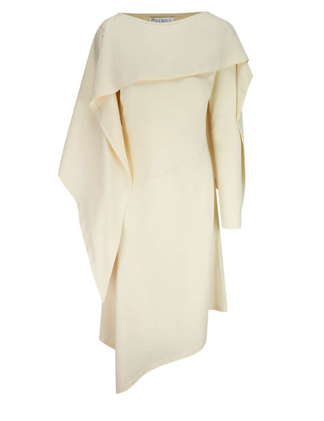 JW Anderson Women's Draped Asymmetric Dress JD0005 PG0079 002