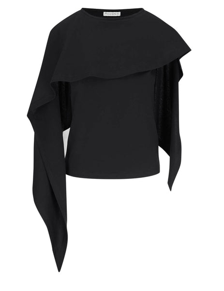 JW Anderson Women's Black Draped Sleeveless Top JO0014 PG0079 999