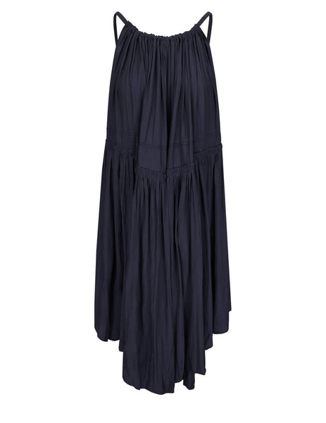 JW Anderson Women's Navy Gathered Sleeveless Dress DR0135 PG0161 888