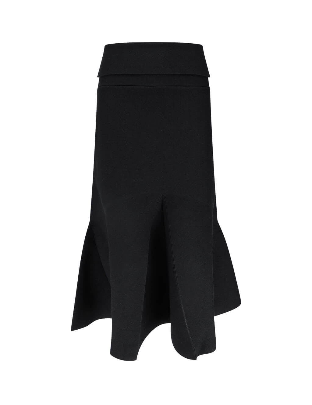 KENZO Women's Black Flared Midi Skirt FA62WJU303RG.99