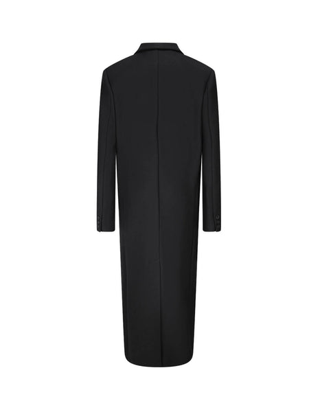 KENZO Women's Black Long Wool Coat FA62WMA139SR.99