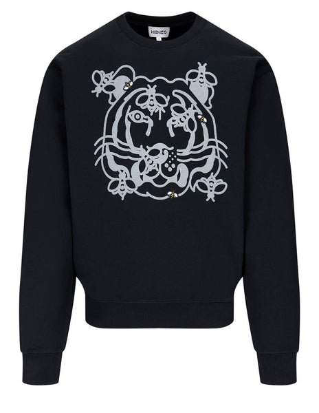 Men's KENZO Bee A Tiger Sweatshirt in Black - FB55SW0184MO99