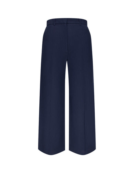 Women's KENZO Cropped Trousers in Navy Blue. FA62PA0259CB.76
