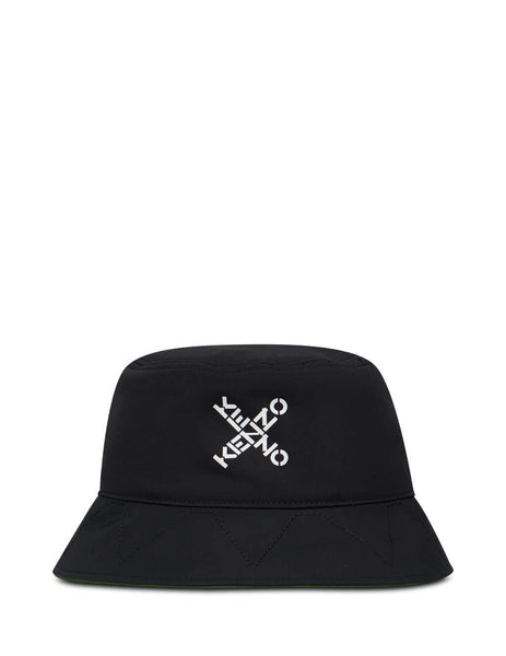 Men's KENZO Crossed Logo Bucket Hat in Black. FA65AC224F21.99