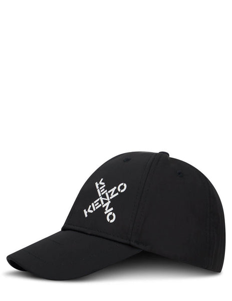 Men's KENZO Crossed Logo Cap in Black. FA65AC221F21.99