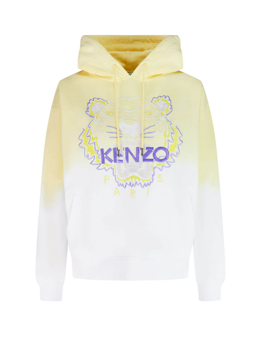 KENZO Women's Giulio Fashion Yellow Gradient Hooded Tiger Sweatshirt FA52SW8674XG.37