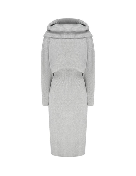 Women's KENZO Hooded Dress in Pale Grey. FA62WRO423RK.93