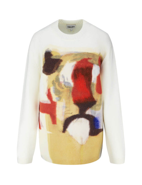 KENZO Women's Júlio Pomar Illustration Jumper FA62WPU653RLMU
