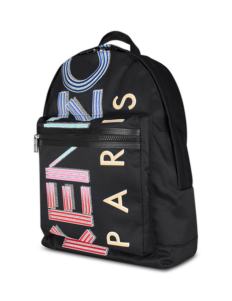 KENZO Black Large Multicolour Logo Backpack FA55SF213F26.99
