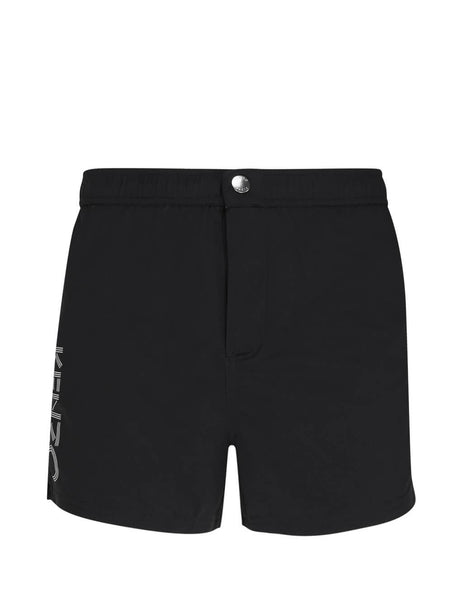 Men's Black KENZO Logo Bathing Shorts FA55BA108SEA.99