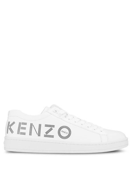 KENZO Men's Giulio Fashion White Logo Tennix Sneakers F965SN129L71.01