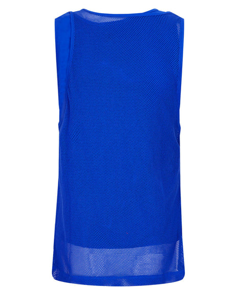 Women's KENZO Mesh Tank Top in Blue - FB52TS6484SA69A