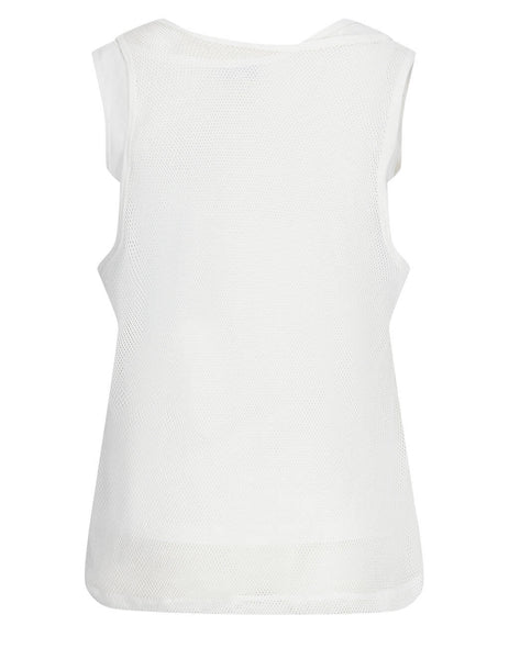 Women's KENZO Mesh Tank Top in White - FB52TS6484SA02