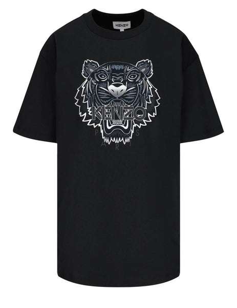 Women's KENZO Oversized Tiger T-Shirt in Black - FB52TS9724YG99