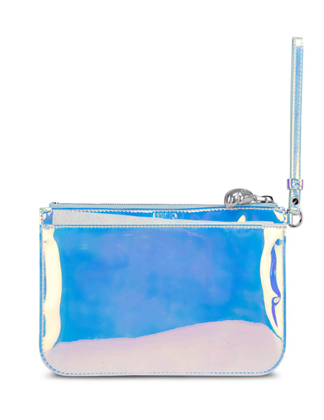 Women's White KENZO Patent Leather Tiger Pouch FA52PM611F18.01