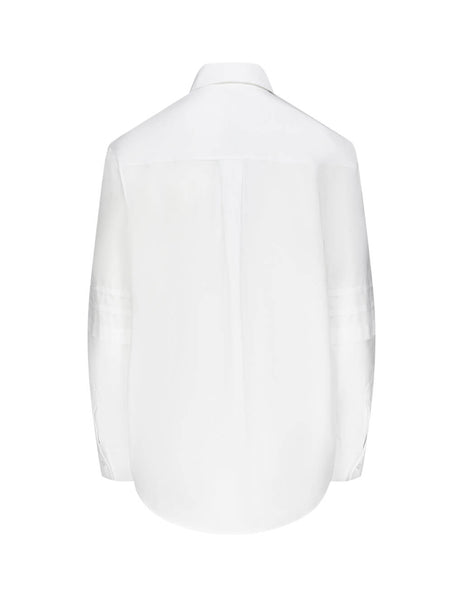 KENZO Women's Giulio Fashion White Pleat Sleeve Shirt F962CH0105AP01