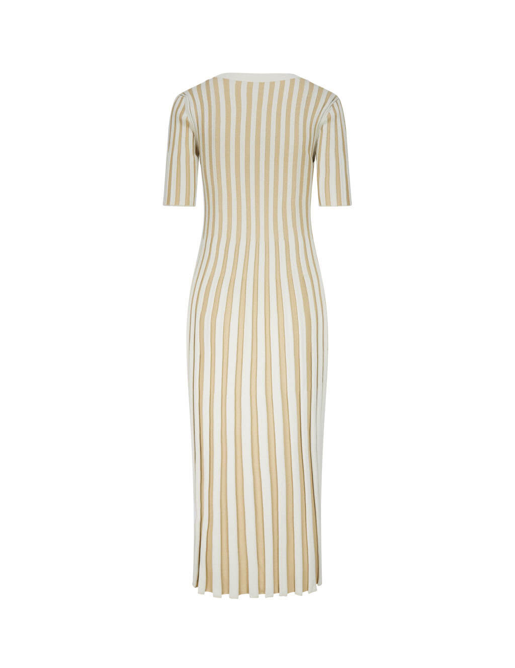 KENZO Women's Giulio Fashion Dark Beige Ribbed Midi Dress FA62RO5213AI.13
