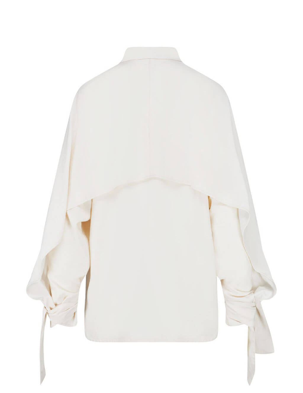 Satin Cape Shirt