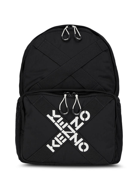 KENZO Men's Giulio Fashion Black Taped Logo Backpack FA65SA213F21.99