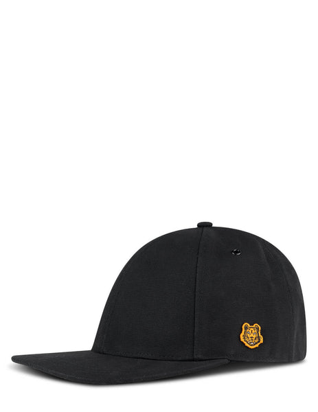 Men's KENZO Tiger Crest Cap in Black - FB55AC401F3499