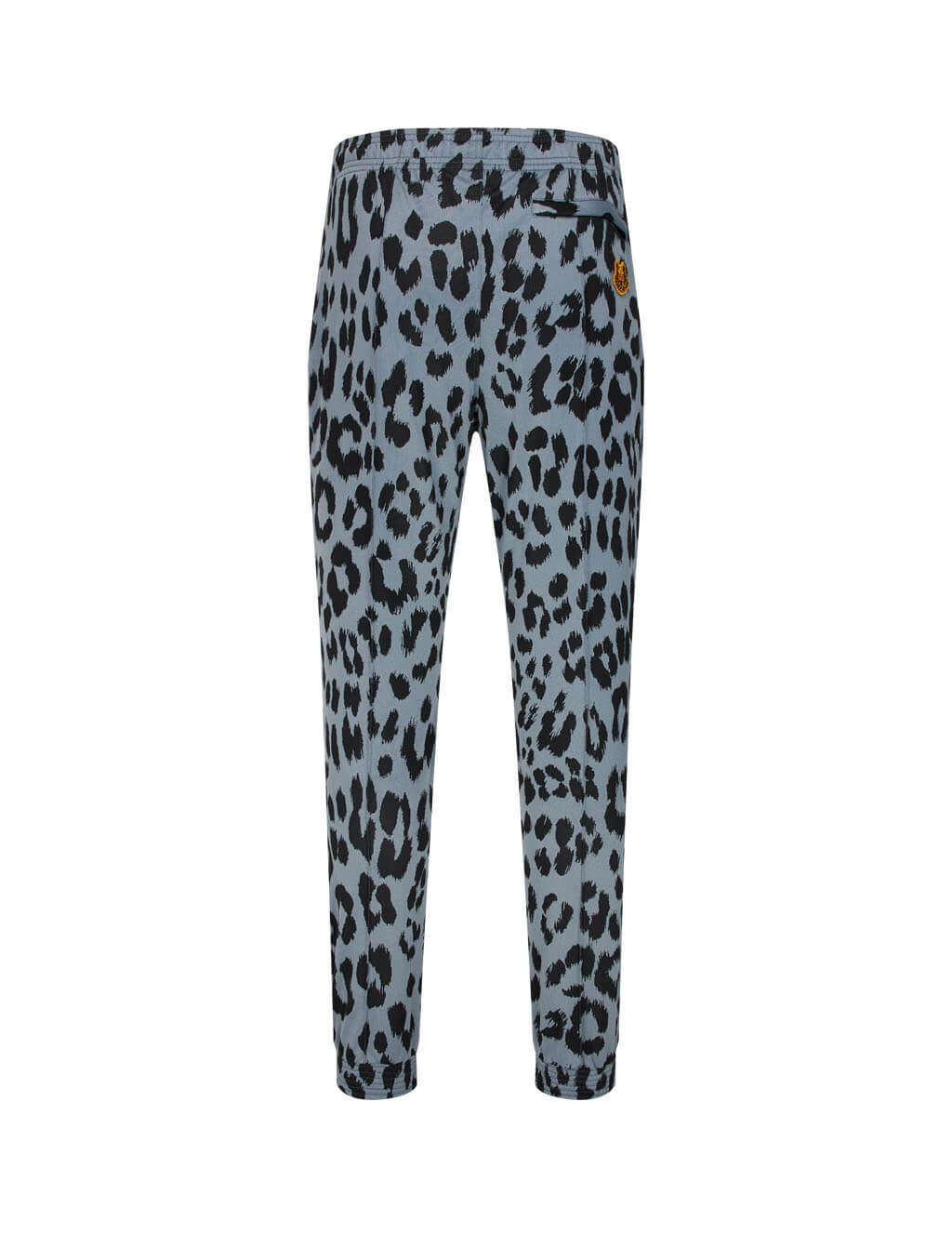 Men's KENZO Tiger Crest Sweatpants with Leopard Print in Glacier Blue - FA65PA7134CA.62