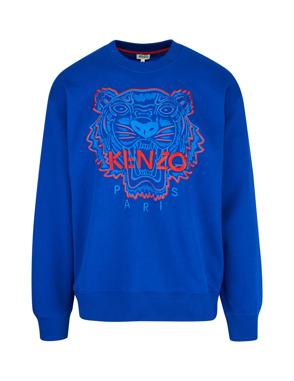 69ce6c5b KENZO Men's Giulio Fashion Blue Tiger Embroidered Sweater F955SW5574XE74