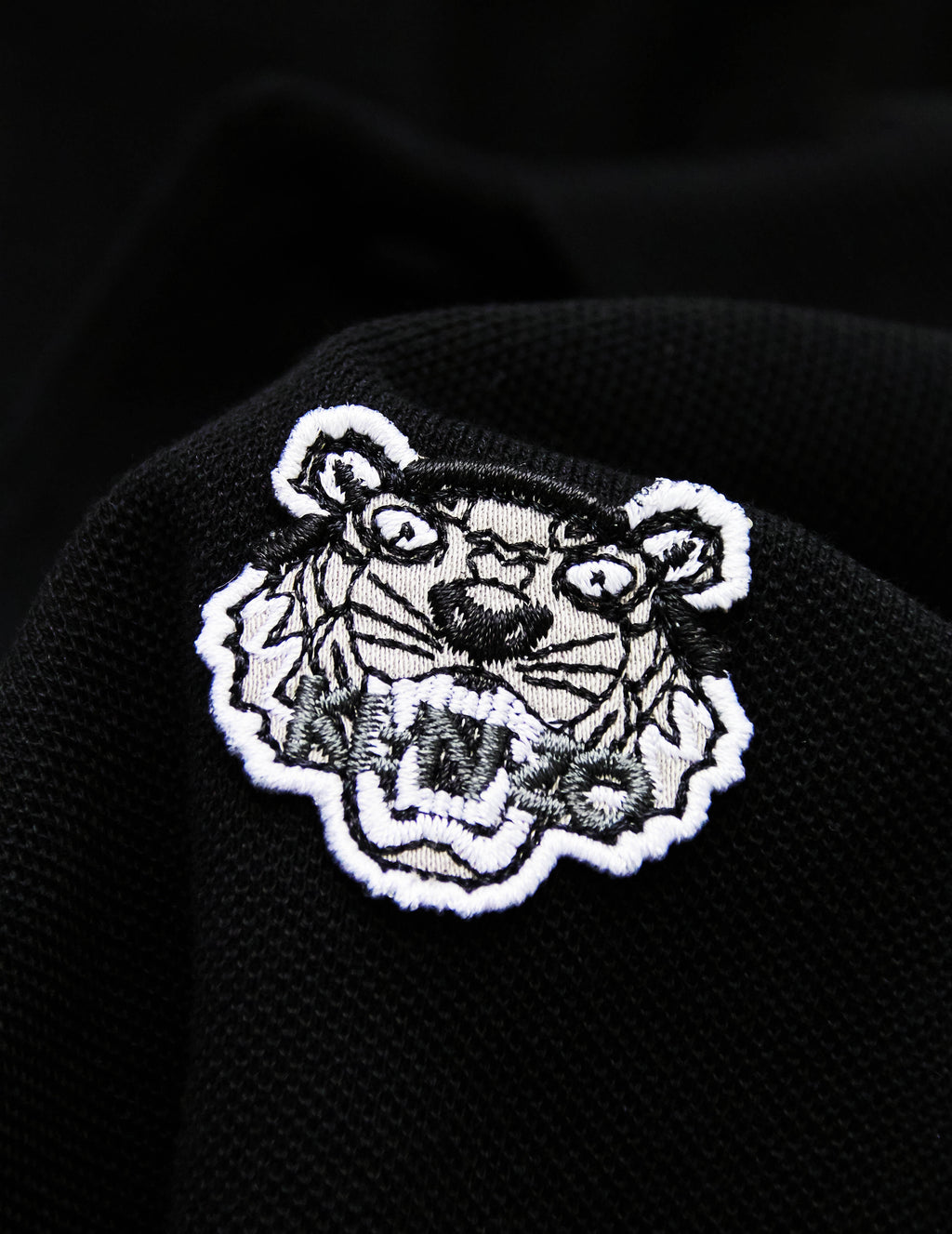 Men's Black KENZO Tiger Polo Shirt F005PO0014BA.99