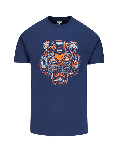 KENZO Men's Giulio Fashion Navy Tiger T-Shirt F965TS0504YA78