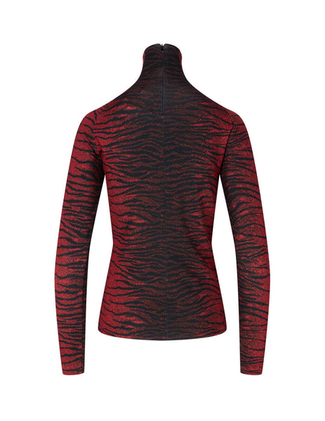 Women's KENZO Tiger Top in Red and Black. FA62TO8524SV.17