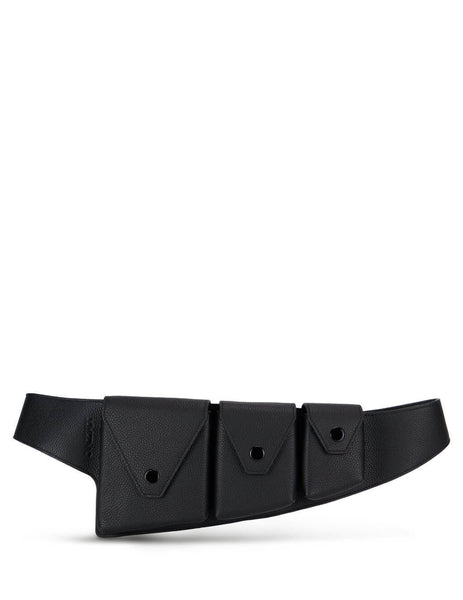KENZO Women's Black Triple Pouch Utility Belt FA62CE305L2299