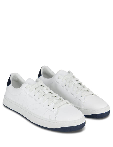 Men's White and Navy KENZO Two-Tone Sneakers FA65SN171L50.76