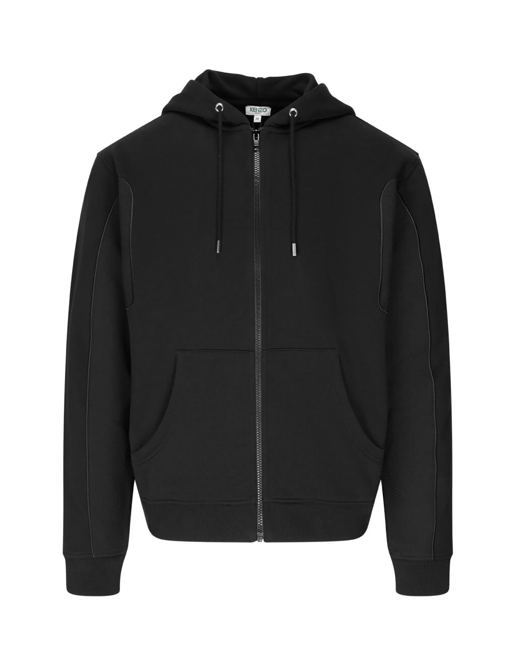 KENZO Men's Giulio Fashion Black Zip-Up Sweatshirt FA55BL7414MC.99