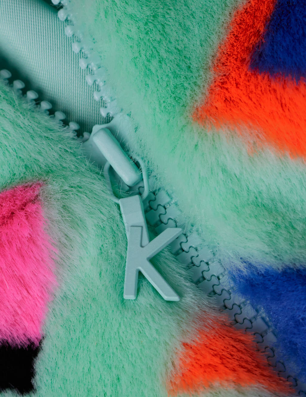 Women's Mint Green KIRIN Kirin Typo Eco Fur Caban KWEP004S20FAB0015130