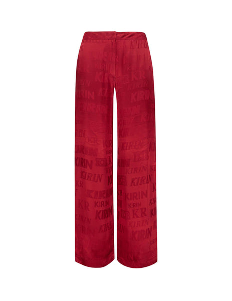Women's Red KIRIN Typo Fluid Trousers KWCA012S20FAB0032525