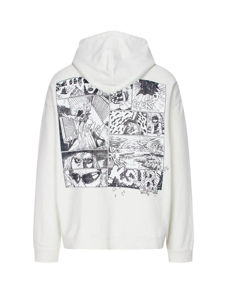 KSUBI Men's Bleached White Ashes Hoodie 5000005362