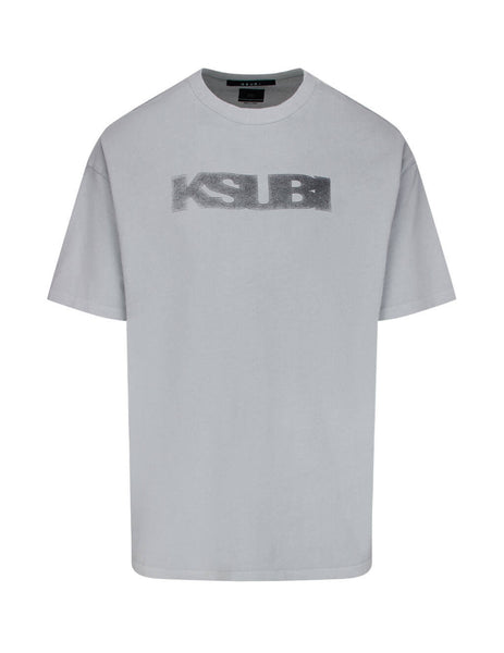 mens ksubi sign of the times short sleeve t-shirt in icekube grey 5000005018
