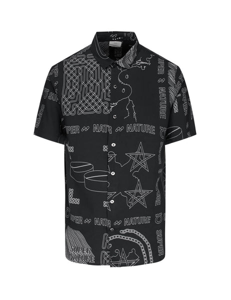 mens ksubi super nature resort shirt in black 5000005081