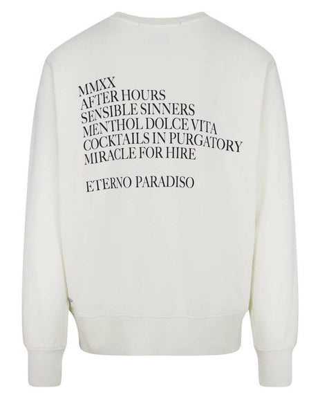 Men's KSUBI After Hours Bleached Sweatshirt in White - 5000005626