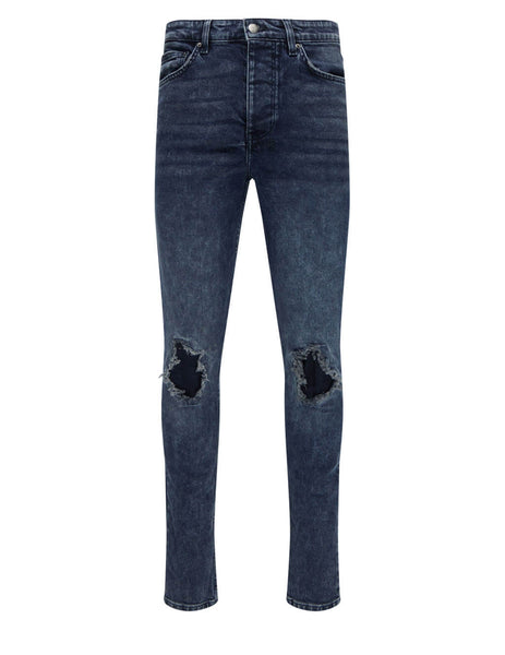 Men's KSUBI Chitch Blue Kolla Slashed Denim Jeans in Dark Blue - 5000005513