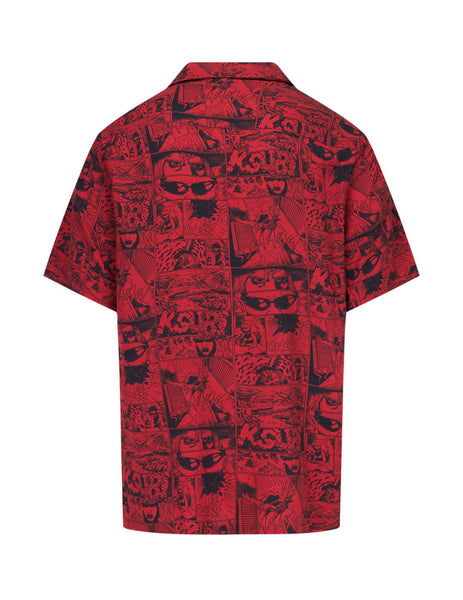 KSUBI Men's Red Clash Short Sleeve Shirt 5000005289