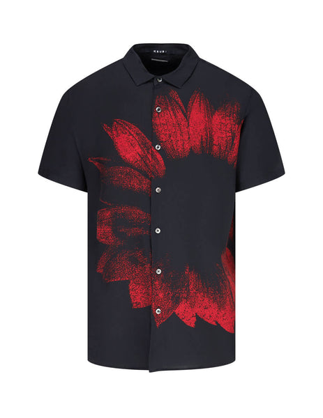 KSUBI Men's Black Dazed Short Sleeve Shirt 5000005287